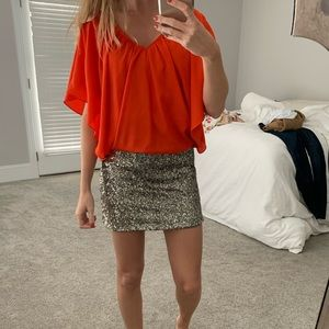 Sequin Dress with a pop of color